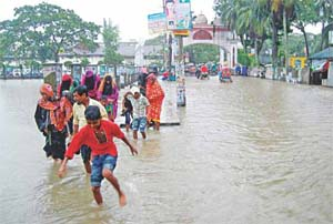 Sylhet experiences this year's highest rainfall