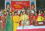 Udichi artistes present popular songs