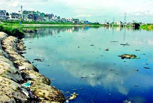 Water polluted- Waste piles up