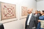 Embroidered quilts from Zainul's collection on display